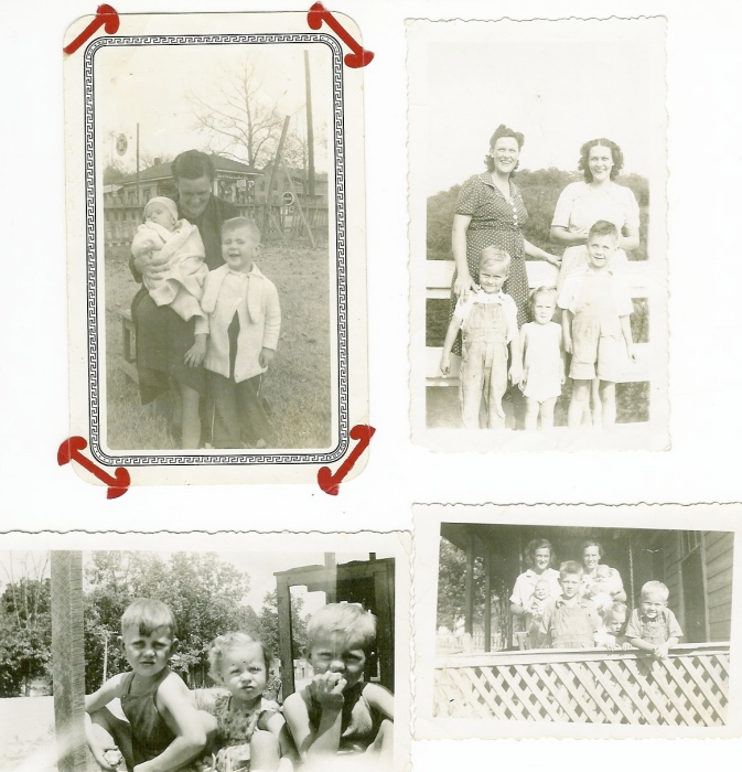Dad as a boy with family, 1930s and 1940s.