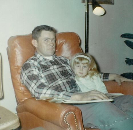 Dad and me in his favorite chair